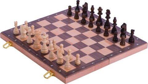 Schachspiel in Holzklappkassette -