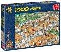 Der Tennisplatz - 1000 Teile -