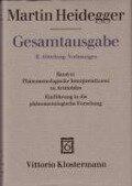 Gesamtausgabe Abt. 2 Vorlesungen Bd. 61. Phänomenologische Interpretationen zu Aristoteles - Martin Heidegger