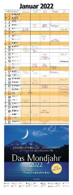 Das Mondjahr 2022 Familienkalender - Johanna Paungger, Thomas Poppe