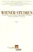 Wiener Studien. Zeitschrift für Klassische Philologie, Patristik und Lateinische Tradition / Wiener Studien Band 123/2010 -