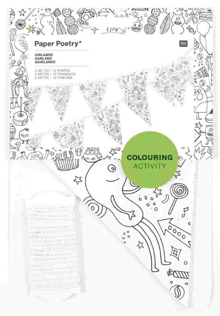 Wimpel Girlande COLOURING ACTIVITY -