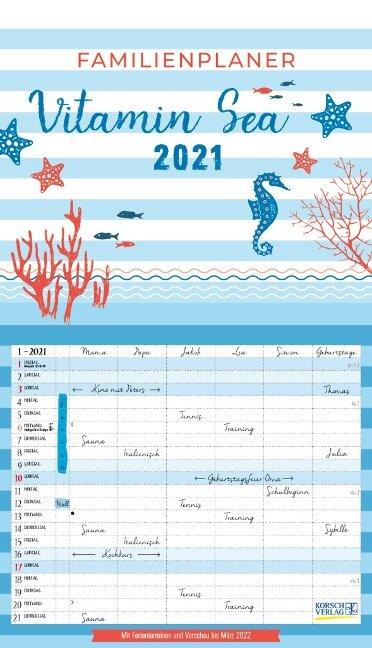 Familienplaner Vitamin Sea 2021 -