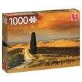 Sonnenuntergang in der Toskana, Italien - 1000 Teile Puzzle -