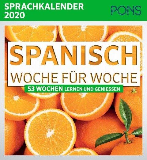 PONS Sprachkalender 2020 Spanisch Woche für Woche -