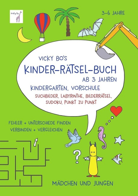 Vicky Bo's Kinder-Rätsel-Buch ab 3 Jahren - Vicky Bo