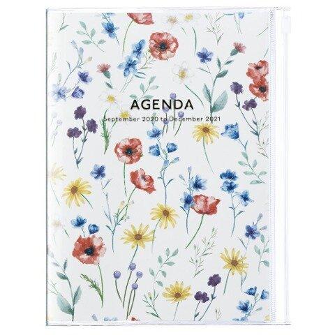 MARK'S 2020/2021 Taschenkalender B6 vertikal, Flower Pattern Ivory. -