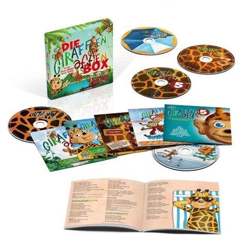 Die Giraffenaffen Box-5 CDs mit Songs und Texten -