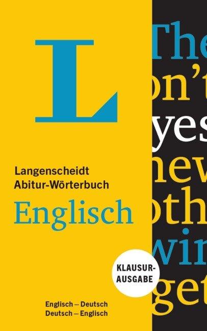 Langenscheidt Abitur-Wörterbuch Englisch - Buch und App -