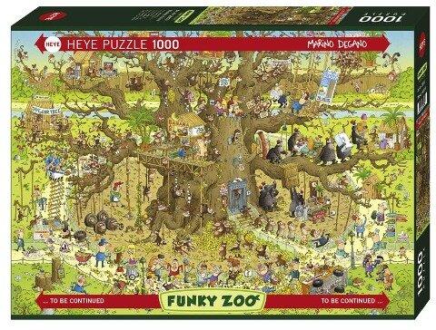 Monkey Habitat Puzzle 1000 Teile - Marino Degano