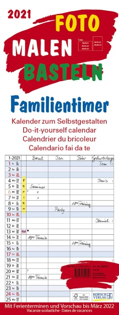 Foto-Malen-Basteln Familientimer 2021 -