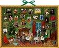 Wand-Adventskalender - Weihnachts-Dinner -