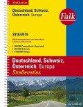 Falk Straßenatlas Deutschland, Schweiz, Österreich, Europa 2018/2019 1 : 300 000 -