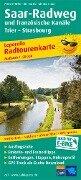Radwanderkarte Saar-Radweg und französische Kanäle, Konz - Strasbourg 1 : 50 000 -