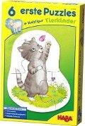 6 erste Puzzles - Tierkinder -