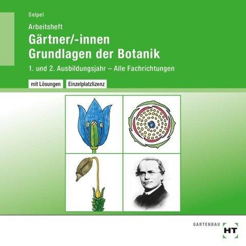 Arbeitsheft mit eingetragenen Lösungen Gärtner/-innen Grundlagen der Botanik - Holger Seipel