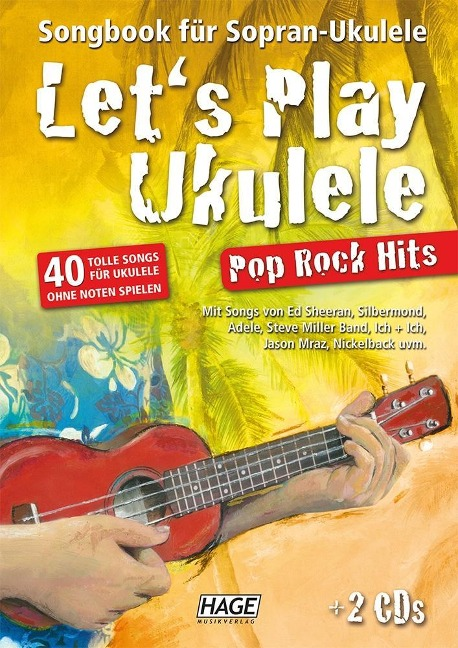Let's Play Ukulele Pop Rock Hits + 2 CDs -