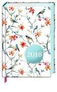 Heitere Gedanken 2018 Taschenkalender (Blaue Vögel) -