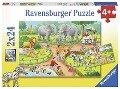 Ein Tag im Zoo. Kinderpuzzle 2 x 24 Teile -