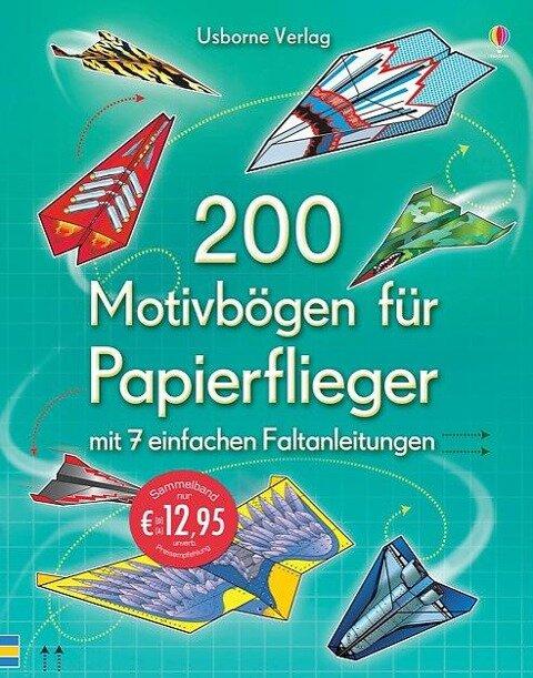 200 Motivbögen für Papierflieger -