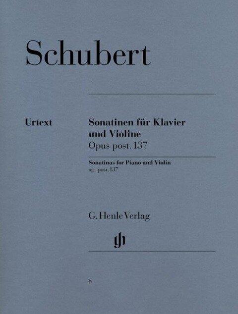 Sonatinen für Klavier und Violine op. post. 137 - Franz Schubert