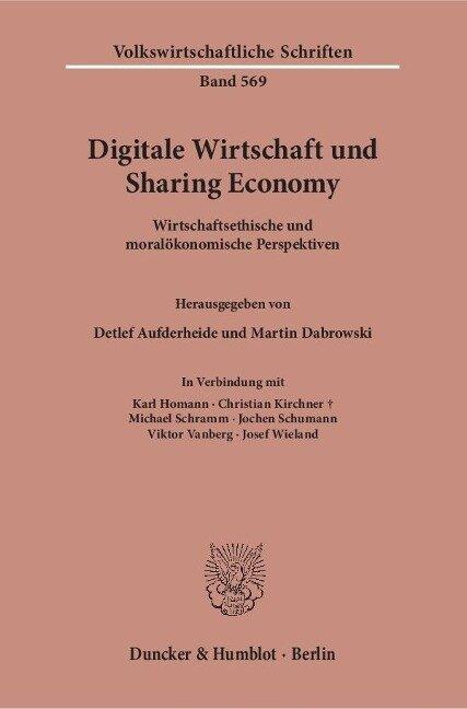 Digitale Wirtschaft und Sharing Economy. -