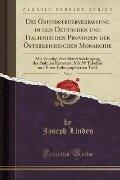 Die Grundsteuerverfassung in den Deutschen und Italienischen Provinzen der Österreichischen Monarchie, Vol. 1 - Joseph Linden