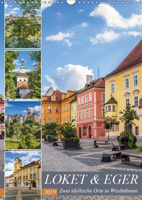 LOKET UND EGER Zwei idyllische Orte in Westböhmen (Wandkalender 2019 DIN A3 hoch) - Melanie Viola