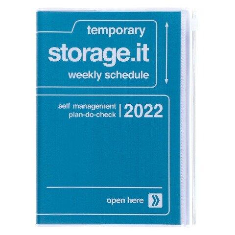 MARK'S 2021/2022 Taschenkalender B6 vertikal, Storage it // Navy -