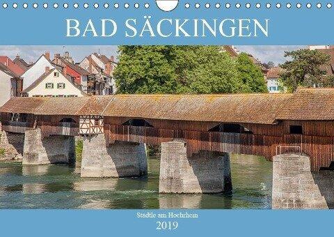 Bad Säckingen - Städtle am Hochrhein (Wandkalender 2019 DIN A4 quer)