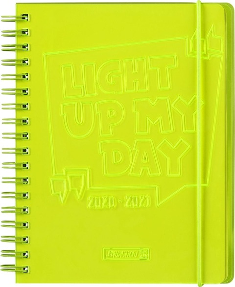 """BRUNNEN 1071890161 Wochenkalender/Schülerkalender 2020/2021 """"Light Up"""" -"""