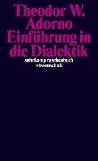 Einführung in die Dialektik - Theodor W. Adorno