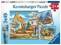 Große Baufahrzeuge Puzzle 3 x 49 Teile -