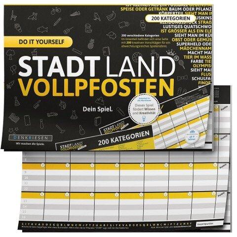 STADT LAND VOLLPFOSTEN® - DO IT YOURSELF-EDITION - Ricardo Barreto, Denis Görz