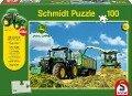 John Deere. Traktor mit 8600i Feldhäcksler Puzzle 100 Teile und SIKU Traktor -