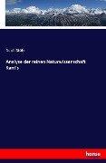 Analyse der reinen Naturwissenschaft Kant's - Adolf Stöhr