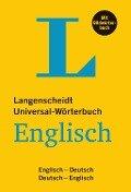 Langenscheidt Universal-Wörterbuch Englisch - mit Bildwörterbuch -