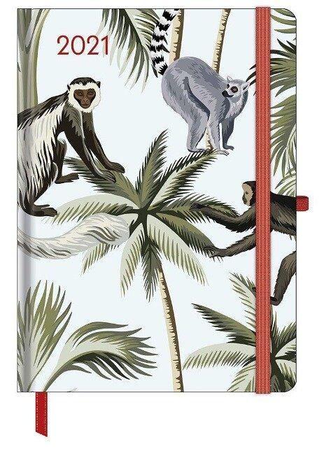 GreenLine Diary Jungle 2021 - Buchkalender - Taschenkalender - 16x22
