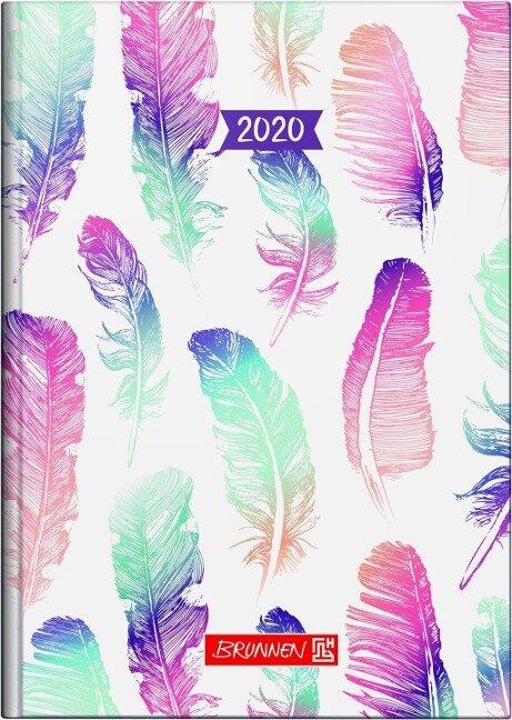 Brunnen Buchkalender 2019 Grafik Federn, A5 -
