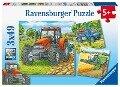 Große Landmaschinen. Puzzle 3 x 49 Teile -