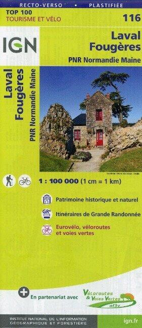 Laval Fougères 1:100 000 -