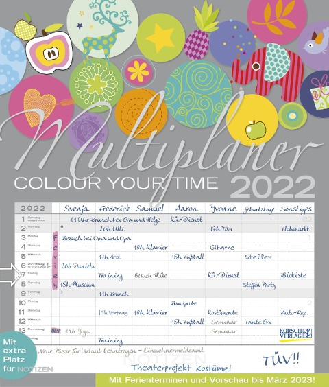 Multiplaner - Colour your time 2022 -