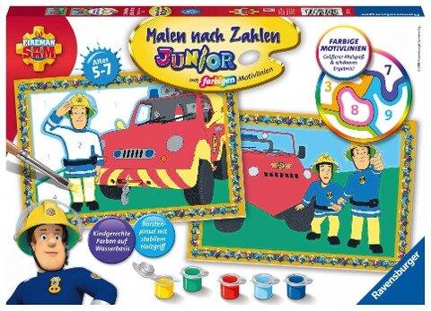 Feuerwehrmann Sam Malen nach Zahlen Junior -