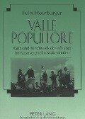 Valle popullore - Felix Hoerburger