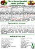 Säure-Basen-Haushalt - gesund abnehmen / Medizinische Taschen-Karte -