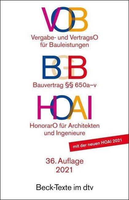 VOB / BGB / HOAI -