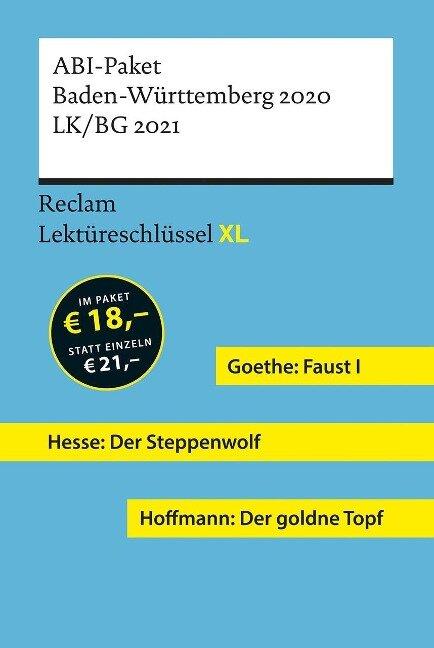 Lektüreschlüssel XL. ABI-Paket Baden-Württemberg 2020. LK/BG 2021 - Mario Leis, Martin Neubauer, Georg Patzer