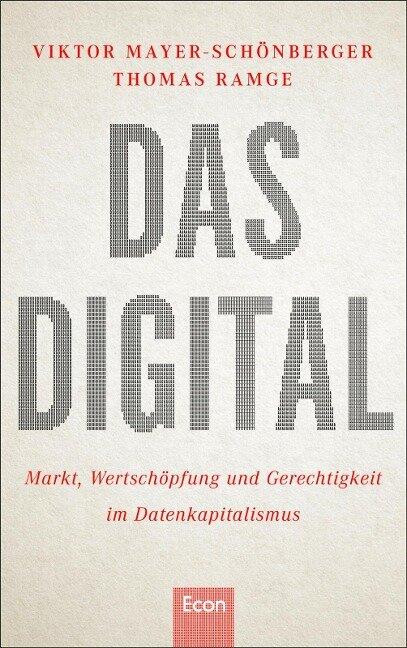 Das Digital - Thomas Ramge, Viktor Mayer-Schönberger