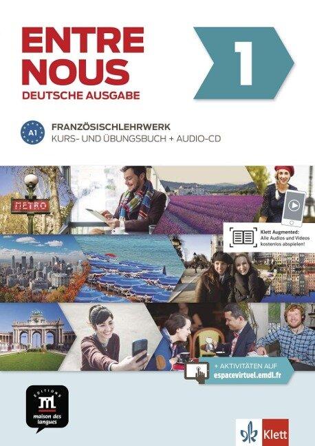 Entre nous A1. Kurs- und Übungsbuch + Audio-CD -