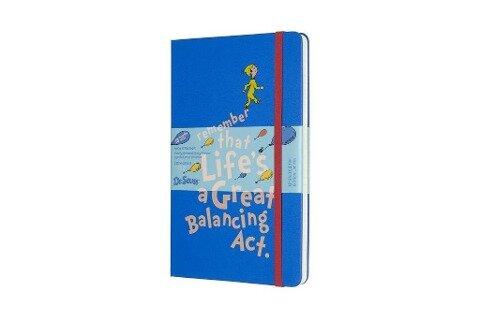 Moleskine 18 Monate Wochen Notizkalender - Dr. Seuss 2019/2020 Large/A5, 1 Wo = 1 Seite, Liniert, Fester Einband, Blau -